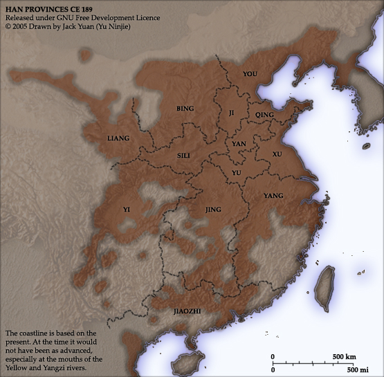 Map of provinces during Three Kingdoms Period