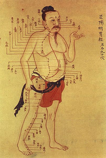 Old Chinese Medical Chart