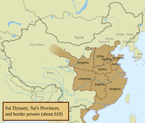 Sui Dynasty Divisions
