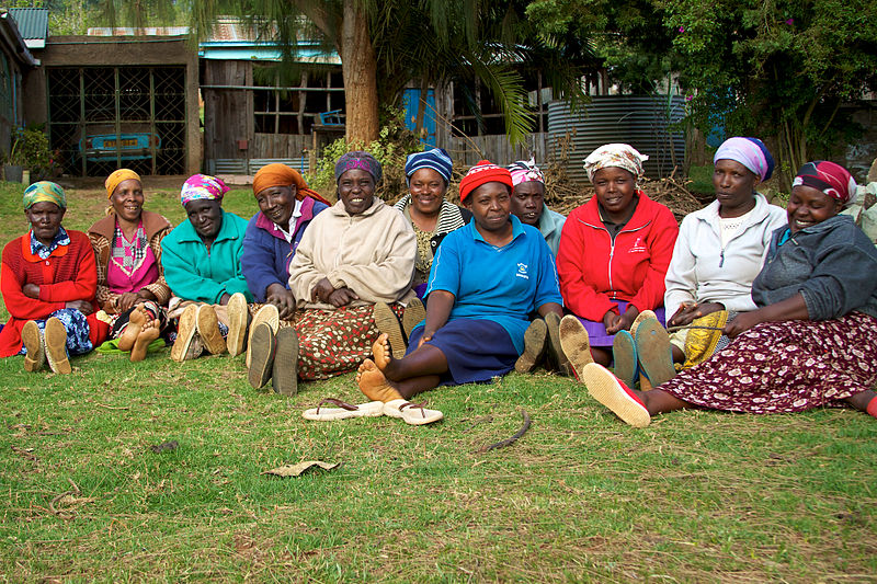 A group of women from Limuru in central Kenya, 2010