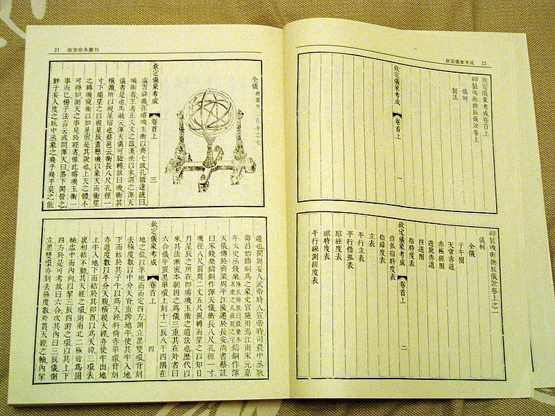 A method of making observation instruments at the times of Qing Dynasty