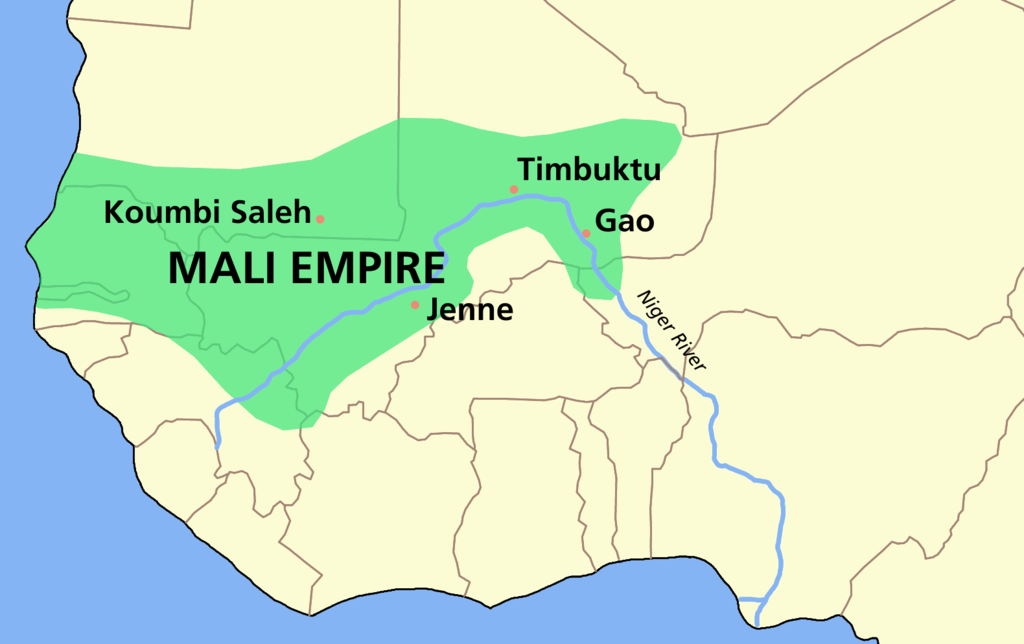 Extent of the Mali Empire (c. 1350)