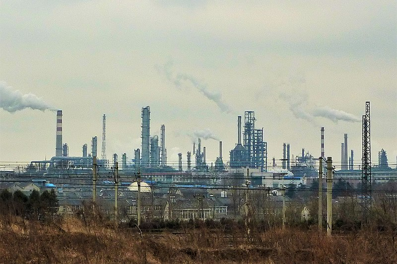 Jinling oil refinery in Nanjing