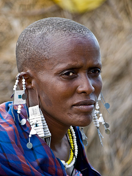 Maasai woman with jwellery