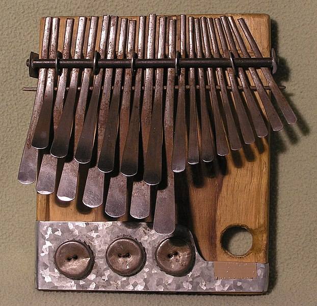 The lamellophone thumb piano or mbira