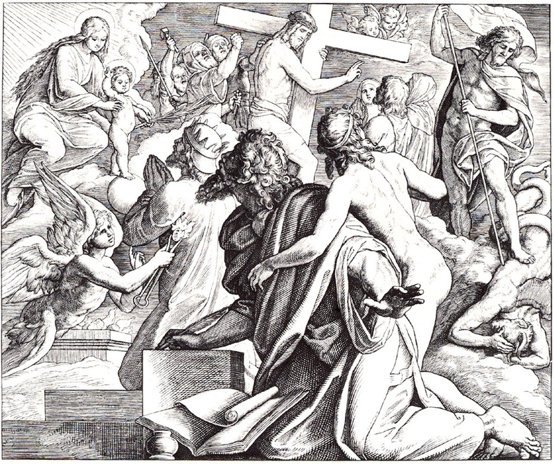The Vision of Isaiah is depicted in this 1860 woodcut by Julius Schnorr von Karolsfeld