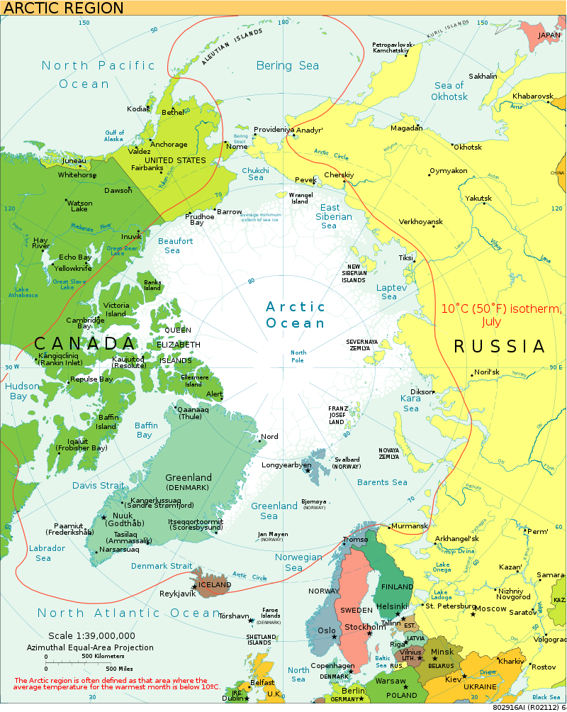 A map of the Arctic