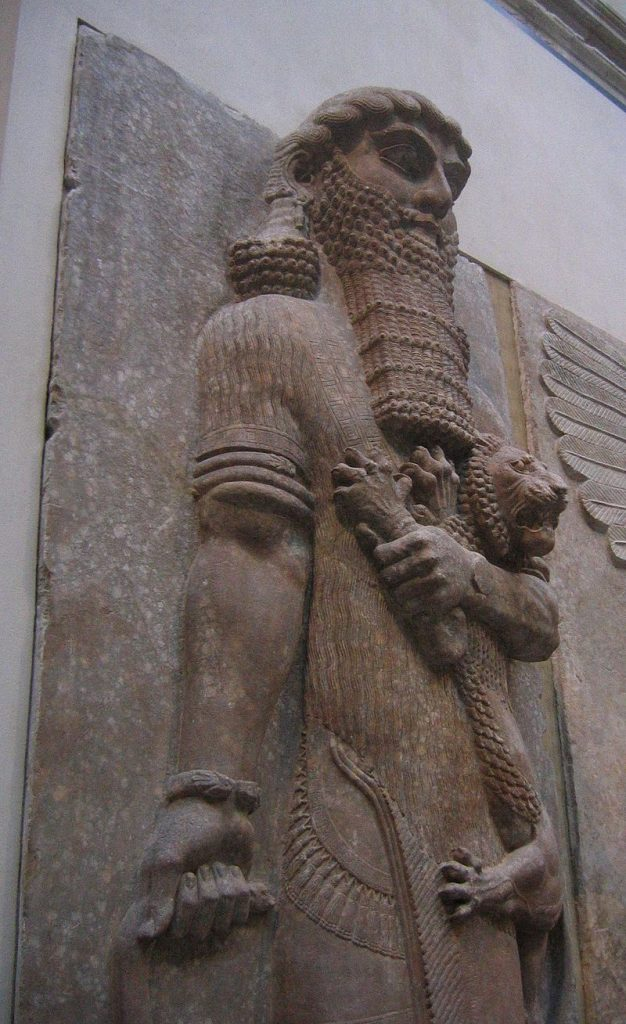 Ancient Assyrian statue currently in the Louvre