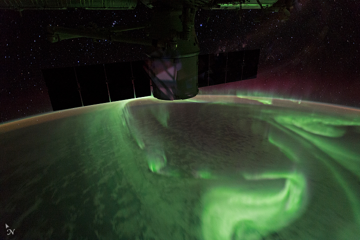 Aurora view from space