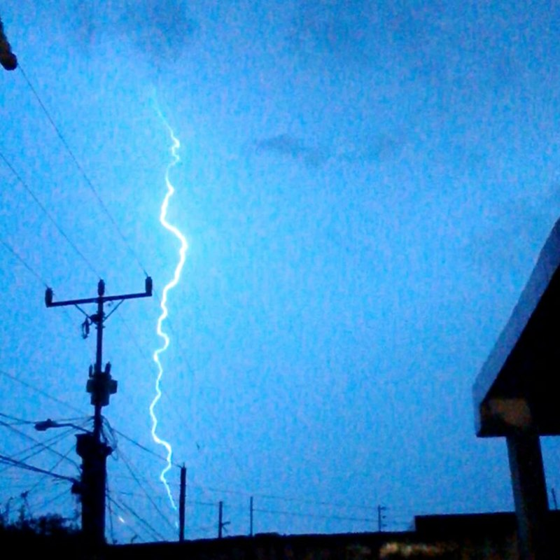 Cloud-to-ground lightning in Maracaibo