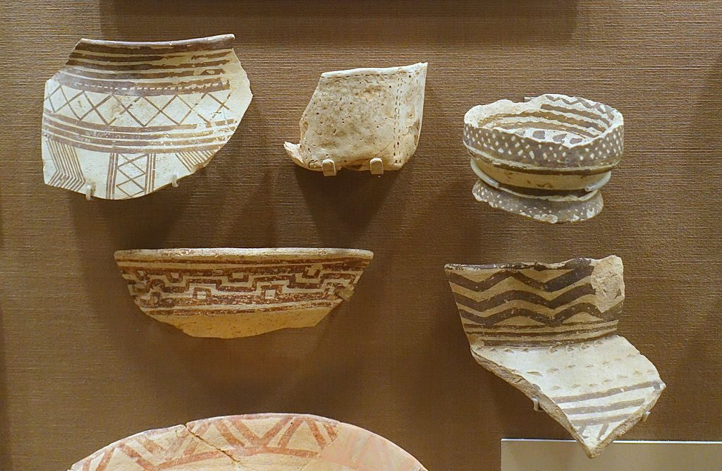 Fragment of Samarra pottery with geometrical designs