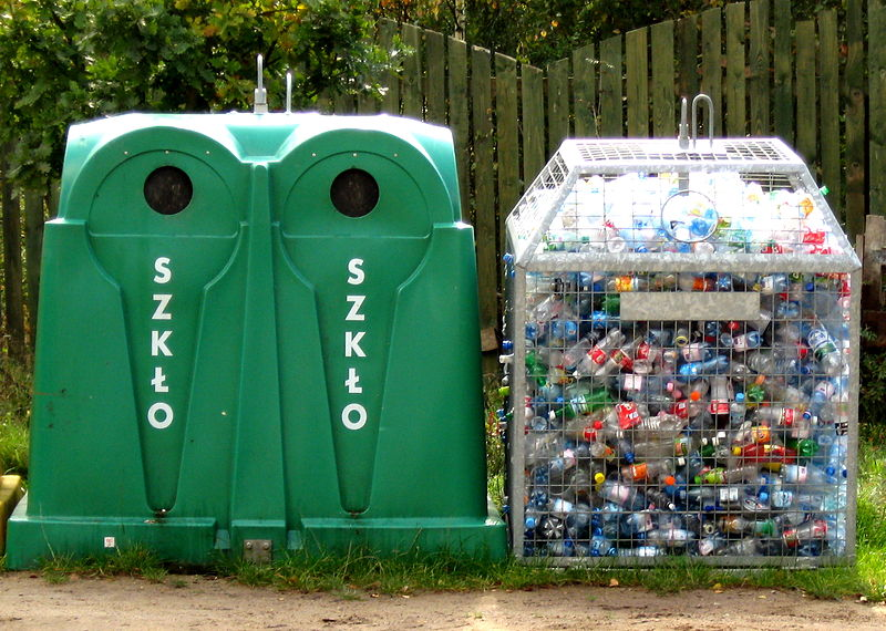 Glass and plastic recycling