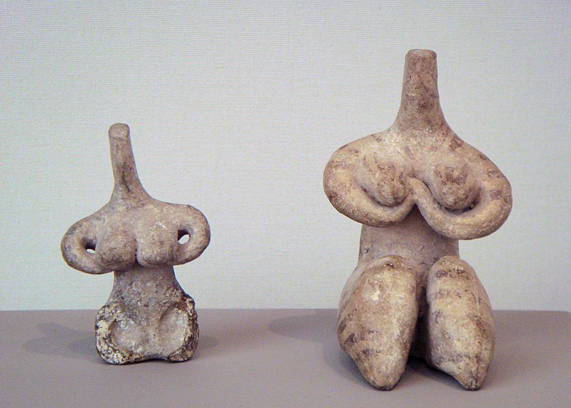 Halaf culture female figurines