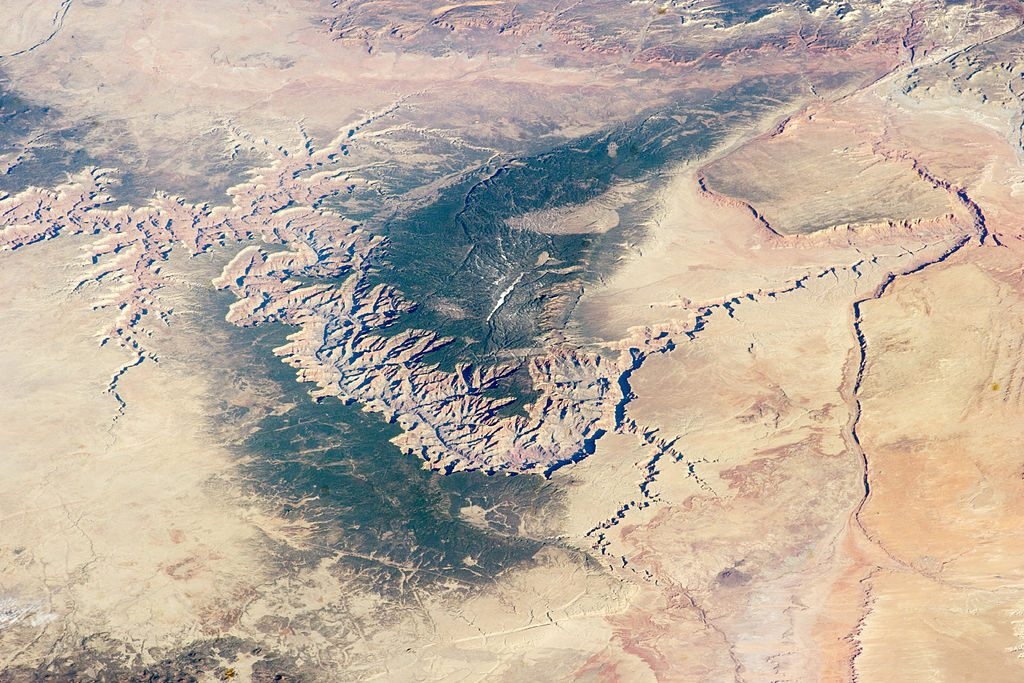 Image of the Grand Canyon and surrounding area taken from the International Space Station