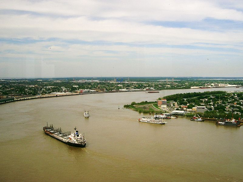 Lower Mississippi River near New Orleans