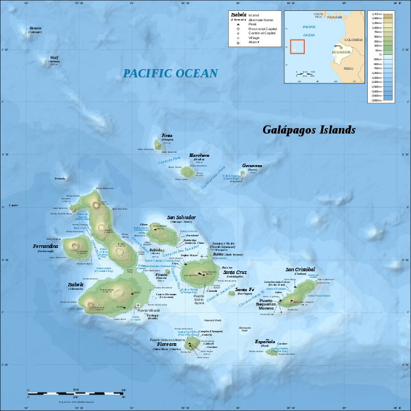 Map of Galapagos Islands