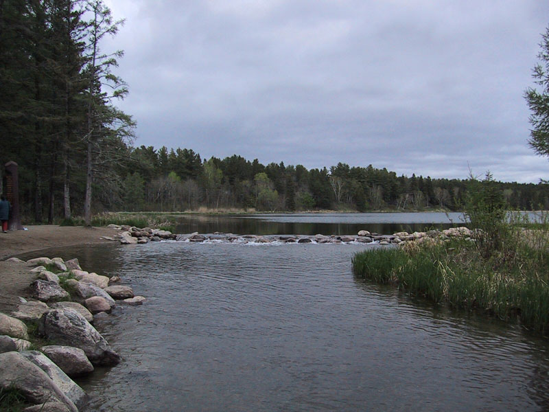 The beginning of the Mississippi River at Lake Itasca