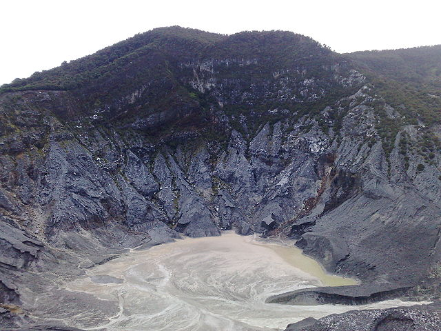 The volcanic crater
