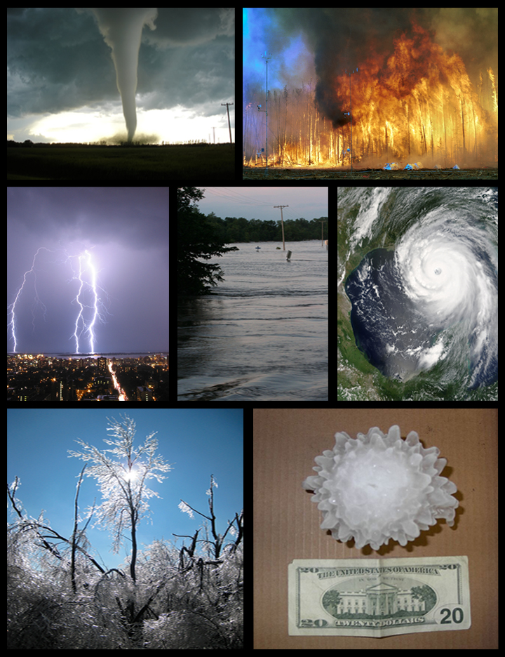 Various forms of severe weather