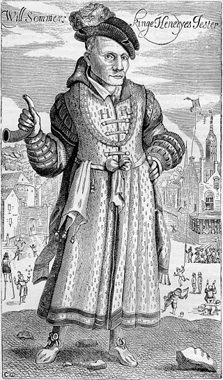 17th-century engraving of Will Sommers, Henry VIII's jester