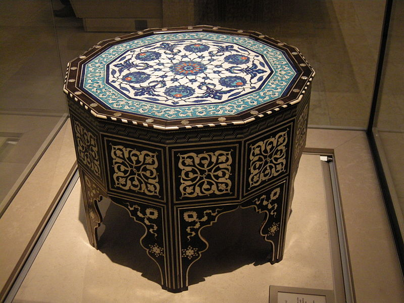 Marquetry and tile-top table, 1560
