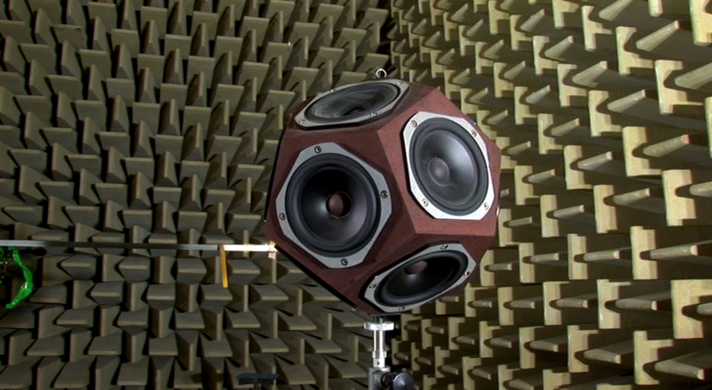 Artificial omni-directional sound source in an anechoic chamber